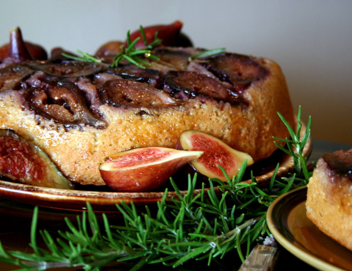 Fig and Rosemary Upside Down Cake